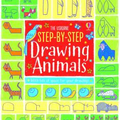 Step-by-step Drawing Animals - Usborne book - Carte educativa