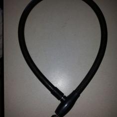 Incuietoare rezistenta, pentru bicicleta sau motocicleta, cablu din otel gros