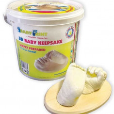 Baby print set de sculptura 3d extra mana/picior bebelus (cu galetuta) - Decoratiuni petreceri copii