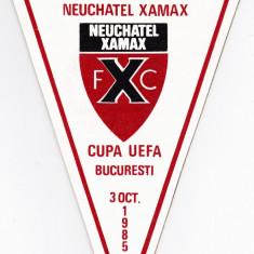 Fanion fotbal Sportul Studentesc - Neuchatel Xamax 03.10.1985 Cupa UEFA