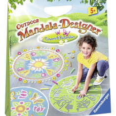 SET DE CREATIE Mandala DE EXTERIOR Flori si Fluturas - Jocuri arta si creatie Ravensburger