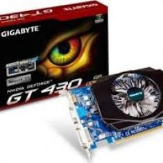 Placa video Gigabyte GV-N430, 1gb DDR3 / 128 biti, garantie 6 luni - Placa video PC Gigabyte, PCI Express, nVidia