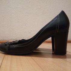 Pantofi trotteur Moda Italia - Pantof dama Made in Italia, Culoare: Negru, Marime: 38