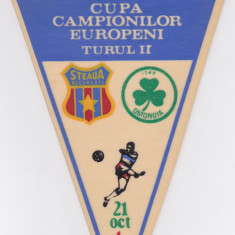 Fanion fotbal STEAUA BUCURESTI - OMONIA NICOSIA 21.10.1987 CCE