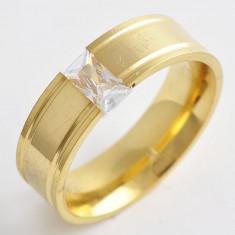 Verigheta/Inel Barbati/unisex inox dublu placat aur 18k, marimi diferite GD706 - Inel inox, 46 - 56