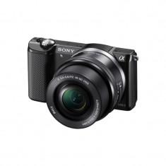 Aparat foto Mirrorless Sony A5000 negru + Obiectiv E SEL 16-50mm f/3.5-5.6 PZ OSS, Kit (cu obiectiv)