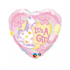Balon folie 45cm It's a Girl - Decoratiuni botez