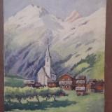 Tablou/Acuarela  peisaj  Hans Aescher.