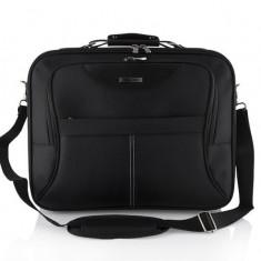 Geanta laptop Modecom Madryt - 15.6'', Geanta de umar, Nailon, Negru
