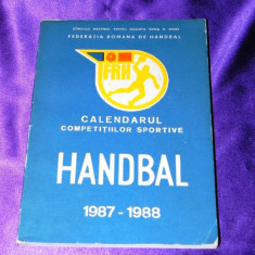 Raritate Calendarul competitiilor sportive HANDBAL 1987-1988 (uz intern) - Carte sport