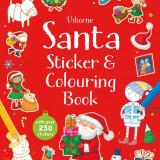 Santa Sticker Colouring Book - Usborne book - Carte educativa