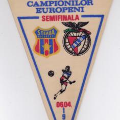 Fanion fotbal STEAUA BUCURESTI - BENFICA LISABONA 06.04.1988 CCE