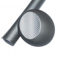Folie colantare auto Carbon 3D - ARGINTIU (1m x 1, 27m) - Folie Auto