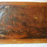 """Samuel Howitt """"Scena de vanatoare"""" gravura veche 1802 - Pictor strain, Animale, Cerneala, Realism"""