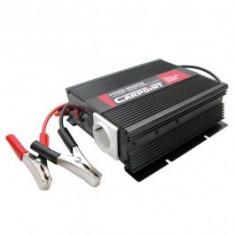 Invertor de tensiune auto Carpoint 12V-230V 600W 50Hz cu protectii la supra-sarcina baterie descarcata supravoltaj scurt-circuit - Invertor Auto