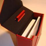 Cutie piele cu plicuri scrisori