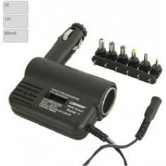 Invertor de tensiune auto Carpoint 12V DC-DC transformator cu siguranta cablu de 1.5m si iesire cu 6 mufe diferite - Invertor Auto
