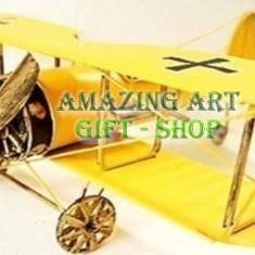 Avion metal decor 27cm - Avion de jucarie