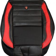 Husa auto imitatie piele perforata, LUX (Negru + Rosu) - Husa scaun auto
