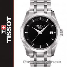 Ceas Tissot Couturier Quartz Lady Black NOU !!!, Lux - elegant, Inox