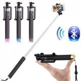 Selfie Stick (maner telescopic) portabil, pentru selfie-uri, conexiune bluetooth