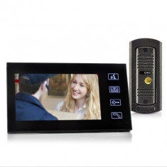 Set Interfon si Camera Video 7'' - Infrarosu, Anti-Vandalism