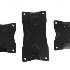 Set ornament pedale din aluminiu, textura CARBON - Pedale tuning