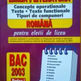 LIMBA SI LITERATURA ROMANA. Concepte operationale. Teste -  Badea