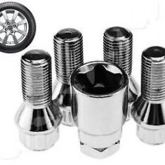 Set 4 prezoane cu antifurt + cheie (M12 x 1, 25) - Prezoane Auto