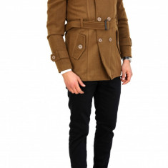 Palton tip ZARA maro - palton barbati COLECTIE NOUA - cod 7709, Marime: S, M, L, XL, XXL, Culoare: Din imagine