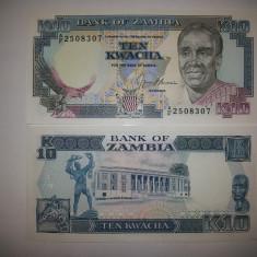 Zambia 10 Kwacha 1989-91 UNC - bancnota africa