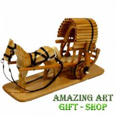 Sareta cu cal din lemn - Arta locala