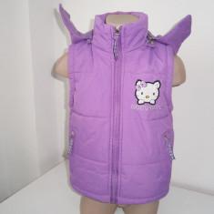 Vesta cu gluga de fetite, 4-5 ani, marca Taurus, mov!, Marime: Alta, Culoare: Din imagine