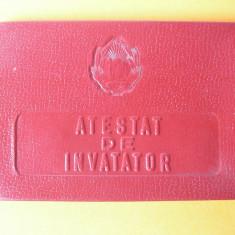 ATESTAT DE INVATATOR - Diploma/Certificat