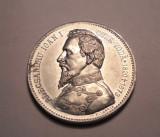 Medalie Cuza Voda 1906 Aluminiu Rara