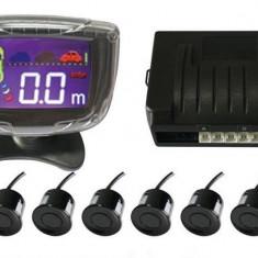 Senzori parcare fata spate cu 8 senzori si display LCD S500-8 - Senzor de Parcare