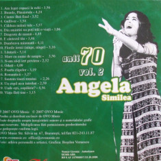 CD, ANGELA SIMILEA, ANII 70 - Muzica Dance