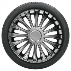 Capace roti model DINO GRAFIT, 16 inch, cu inel cromat (LOGO optional), R 16