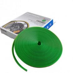 Inele protectie si decor jante, adezive, din plastic flexibil - VERDE