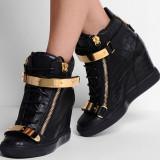 Sneakers dama cu platforma GIUSEPPE ZANOTTI - PIELE NATURALA