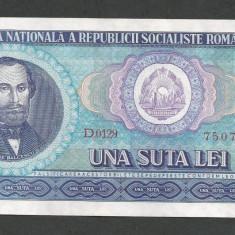ROMANIA 100 LEI 1966 [01] XF+++ - Bancnota romaneasca