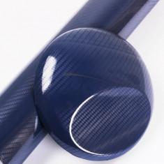 Folie colantare auto Carbon 3D - ALBASTRU (1m x 1, 27m) - Folie Auto