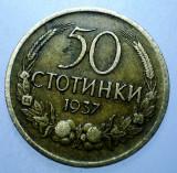 1.236 BULGARIA 50 STOTINKI 1937, Europa, Bronz-Aluminiu