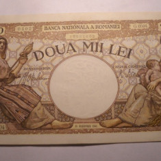 2000 lei 1941 XF ++ - Bancnota romaneasca