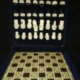 Tabla (insertie sidef)  si piese de sah  in caseta