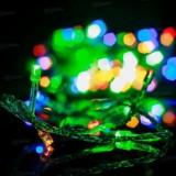 Instalatie luminoasa 100 leduri pentru Bradul de Craciun - interior / exterior - Multicolora - Instalatie electrica Craciun