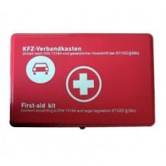 Trusa medicala auto de prim ajutor omologata, import Germania
