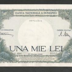 ROMANIA 1000 1.000 LEI 20 martie 1945 fond verde [2] XF+ - Bancnota romaneasca