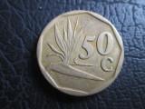 Africa de Sud _ 50 cents _ 1991, Bronz-Aluminiu