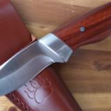 Cutit full tang briceag Pescuit Vanatoare cu Teaca Piele Naturala, nou